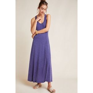 Anthropologie Maeve Melanie Knit Maxi Dress Purple